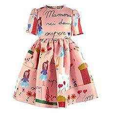Amazon.com: Jia Xun® Fashion Girls Dress High-end Boutique Girls Graffiti Print Dress Sundress: Clothing
