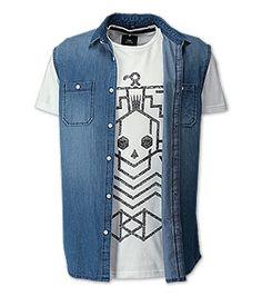 Ärmelloses Jeanshemd mit T-Shirt in der Farbe jeans-blau bei C&A