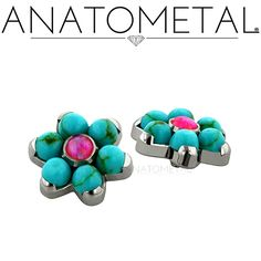 New from Anatometal! Cabochon-cut synthetic Turquoise, and yes, it is fully autoclave-able, and hand selected by us. Available now in all of our most popular sizes, call us for details!!