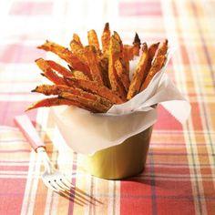 Frites de patate douce, trempette au chili