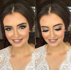Wedding makeup that lipstick Bridal Makeup Looks, Bridal Hair And Makeup, Wedding Hair And Makeup, Wedding Beauty, Make Up Braut, Formal Makeup, Braut Make-up, Bridesmaid Makeup, Bride Hairstyles