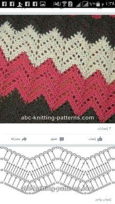 Best 8 Herringbone, Zig Zag Crochet Stitches for Free. Chevron Crochet, Zig Zag Crochet Pattern, Bandeau Crochet, Crochet Stitches Chart, Crochet Ripple, Crochet Diagram, Afghan Crochet Patterns, Baby Blanket Crochet, Crochet Motif