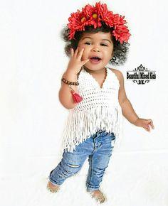 Alaiya - 1 Year • African American & Indian ❤ FOLLOW @beautifulmixedkids on instagram WWW.STYLISHKIDSAPPAREL.COM