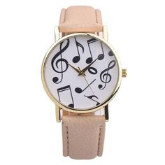 Cheap hombre, Buy Quality hombre reloj Directly from China Suppliers:Women Watches Relogio Feminino Musical Notes Women Men Leather Band Analog Quartz Dial Wrist Watch Relojes Hombre 2017 Cheap Watches, Casual Watches, Watches For Men, Women's Watches, Luxury Watches, Female Watches, Ladies Dress Watches, Discount Watches, Beige