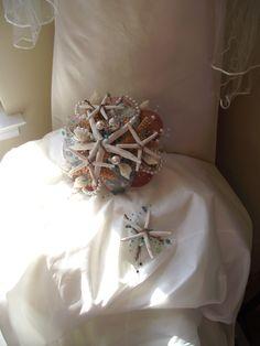 Sea shell bride bouquet, aqua blue bridal bouquet, shell wedding bouquet, tiffany blue wedding bouquet, beach wedding bouquet, coastal by UptownGirlzz on Etsy https://www.etsy.com/listing/169137765/sea-shell-bride-bouquet-aqua-blue-bridal