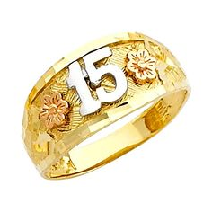 online shopping for Quinceanera Jewelry Gold Floral Quinceanera 15 Anos Ring from top store. See new offer for Quinceanera Jewelry Gold Floral Quinceanera 15 Anos Ring Gold Diamond Rings, Yellow Gold Rings, Diamond Wedding Bands, White Gold, Wedding Rings, Diamond Jewelry, Black Hills Gold Jewelry, Leaf Engagement Ring, Rings For Girls