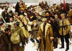 """""""The Impassioned Years: Partisans of Pskov"""", by Semën Rotnitskiy (1944)"""