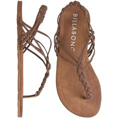 BILLABONG Woven in time sandal ($21) ❤ liked on Polyvore featuring shoes, sandals, sandalen, woven elastic shoes, faux leather shoes, woven sandals, strap shoes and woven shoes