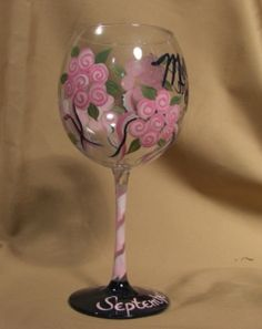 Hand painted wine glasses for gift/craft
