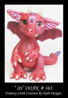 Dragon Art Doll Polymer Clay Fantasy Miniature Fairy DollHouse