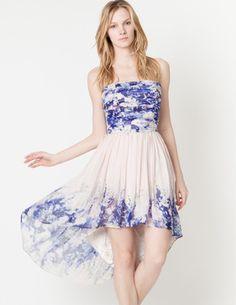 lovely summer dipped hem dress!