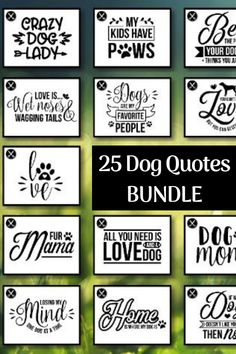 Dog Quotes Bundle Look at all of the images available in this bundle Dog lovers invited Create cute crafts projects with Cricut and many more programs Dog Crafts, Animal Crafts, Cute Crafts, Crafts To Sell, Short Dog Quotes, Dog Qoutes, Vinyl Projects, Craft Projects, Craft Ideas