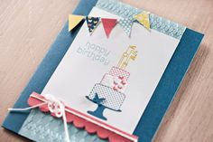 birthday card with pennant banner