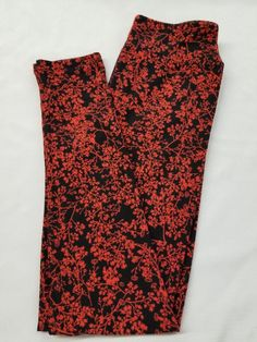 c1398c9a543bdf New LuLaRoe OS One Size Leggings black red flowers floral vibrant beautiful  soft #fashion #