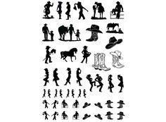 Cowboys and Cowgirls - Black 16CC565 White 16CC585