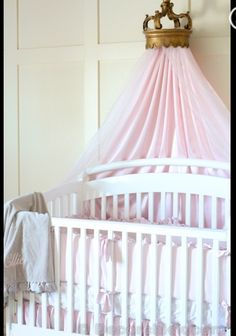 princess canopy  I'm not a fan of anything near the crib but this hangs behind it and I love it !!!