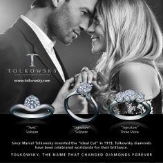 Tolkowsky Diamond engagement rings. www.stonzjewellers.co.nz