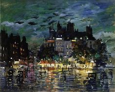 "Konstantin Alexeievitch Korovin (Russian, 1861–1939), ""View of Paris by Night"""