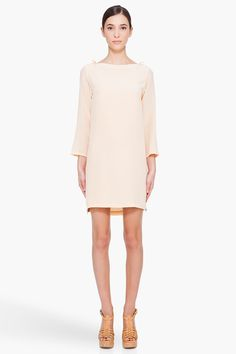 peach silk dress // a.p.c.