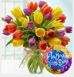 Send birthday flowers delivery to surprise someone for their special day! Our fresh happy birthday flower arrangements and bouquets will make them smile. Happy Birthday Bouquet, Happy Birthday For Her, Birthday Wishes Flowers, Birthday Wishes Greetings, Birthday Roses, Birthday Blessings, Happy Birthday Pictures, Happy Birthday Funny, Happy Birthday Quotes