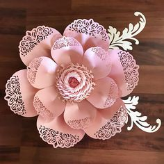 This is an SVG FILE!!! A file to use in cutting machines. This is not the file for trace and cut purposes. This Listing is for LACE PETAL TEMPLATE and FRINGE FLUFFY CENTER ONLY. Glittered Ball center is NOT INCLUDED. This particular Lace Flower Design can make 15-21 inches elegant