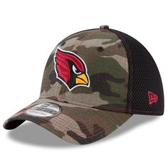 c84342e59 Arizona Cardinals New Era Woodland Shock Stitch Neo 39THIRTY Flex Hat -  Camo