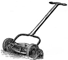 first lawn mower - invented by Edwin Beard Budding in 1830, this helped people in many ways, this gave them a way to keep their lawns and gardens looking good, and it was used mostly as a chore for children.