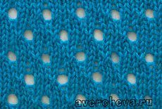 узор спицами 563 « простой ажурный узор 3» | каталог вязаных спицами узоров