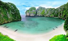 Phi Phi & Khai Islands by Speed Boat from Phuket A Phi Phi Island tour is the most popular activity in the region. Phi Phi Islands are situated 40 km south-east of Phuket and consist of six islands. Phi Phi Leh with Maya Bay which featured in the movie Phuket Thailand, Thailand Phi Phi Island, Thailand Travel, Asia Travel, Cool Places To Visit, Places To Travel, Travel Destinations, Ilha Phi Phi, Maya Bay