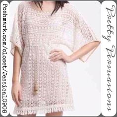 Sanctuary Designer Bohemian Crochet Fringe Tunic •••❤️ Sanctuary boho perfection- full crochet top featuring a fringe hemline, relaxed fit, & ties under the bust! Simply stunning! Can be worn in many ways from a top to a tunic to a dress with a slip underneath. Must have summer wardrobe addition!! Labeled size XS ~ will fit a small fine too. MSRP $178 In excellent condition. You'll love this! ❤️••• Sanctuary Tops Tunics