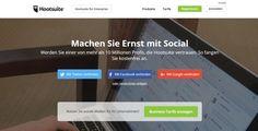 Hootsuite - Social Media-Posts zentral planen