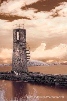 Ballycurrin Lighthouse on Lough Corrib, Ireland