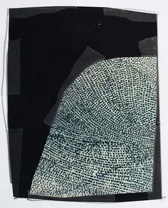 Painting by Karine Leger from her Fragment series, Through the Night. Black And White Abstract, White Art, Sketchbook Inspiration, Painting Inspiration, Collage Art, Collages, Contemporary Abstract Art, Aboriginal Art, Textile Art