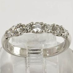 Estate Jewelry  Platinum Wedding Band 1/2 by affordablevintage4U, $1299.00