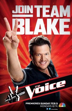 The Voice  Join #teamBlake if I could I would! Hope to one day be in team blake!