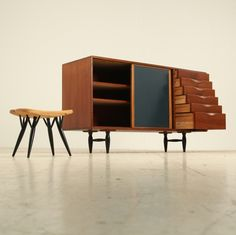 Rare sideboard by Ilmari Tapiovaara for Laukaan Puu | From a unique collection of antique and modern credenzas at http://www.1stdibs.com/furniture/storage-case-pieces/credenzas/