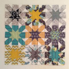 Star Blocks with link to free downloadable tutorial   Periwinkle Quilting and Beyond