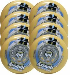 HYPER Inline Wheels ASSAULT MICRO CORE 80mm 93A FIRM x8 W/ Bearings by Hyper. $31.00. #1 IN THE WORLD OF WHEELS - THE FASTEST RACING PERFORMANCE WHEEL IN THE WORLD - INDOOR RACE - 80mm FIRM (93A) - ASSAULT MICRO CORE - WITH BEARINGS. With more podium time than any other race wheels, the Assault has been proven by top competitors worldwide. Long life and superior performance make this wheel a winner year after year. ALL NEW, OPTIMIZED LIGHTSPEED MATRIX HUB - SUPERIOR GRIP, SNAPP...