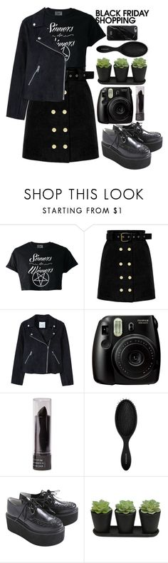 """BlvckFriday"" by dariafrank ❤ liked on Polyvore featuring MANGO, Fujifilm and Sephora Collection"