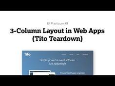 UI Practicum #9. Three-Column Layout in Web Apps (Video Teardown of Tito) | UI Breakfast
