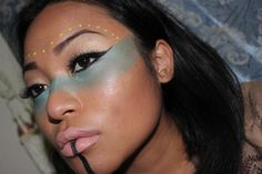 Native American make up tutorial for halloween. Easy step by step tutorial