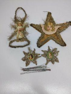 Victorian Christmas Decorations, Vintage Christmas Crafts, Victorian Christmas Ornaments, Homemade Christmas Decorations, Christmas Crafts For Kids To Make, Old World Christmas, Christmas Ornaments To Make, Silver Christmas, Vintage Crafts