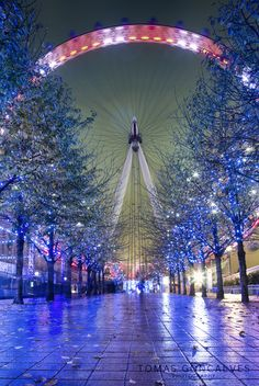 Christmas London Eye panorama by Tomas Goncalves on 500px