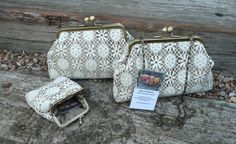 Lace Clutch Purse Kiss Lock Lace Evening purse by Bagsofelegance