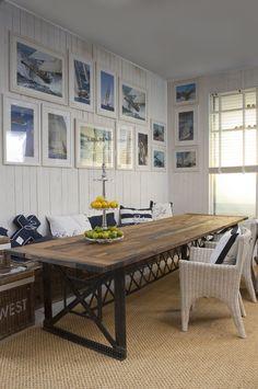 Dining table: Brooklyn bridge meets Indian railway sleepers