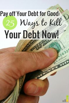 Paying off debt can be difficult to do, especially when you don't know where to start. Here are 25 ways to take that first step toward becoming debt free.