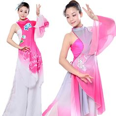 New Opening Dance Fan Dance Yangko Classical National Costumes Chinese Folk Dance Stage & Dance Wear #Affiliate