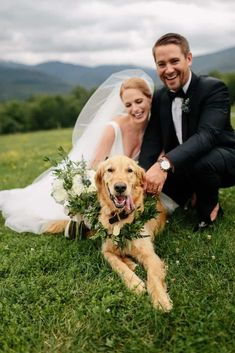 Trapp Family Lodge wedding in Stowe Vermont captured by Stowe Wedding Photographers - The Light and color Dog with floral collar, floral collar for dog, wedding dog, dog in wedding photos with dogs C + A Wedding Poses, Wedding Groom, Wedding Ceremony, Wedding Veil, Wedding Receptions, Space Wedding, Dream Wedding, Wedding Day, Dogs At Wedding