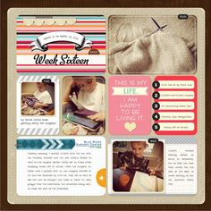 this is a digital layout, but I think I could recreate that bottom-left journal box with real elements.  like!
