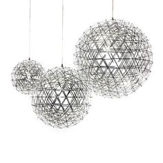 The Raimond Pendant Light, is a sculptural piece of lighting reminiscent of a starry night. Created from intricately woven steel, the light would look stunning in large commercial spaces as well as the home.This li Led Pendant Lights, Ceiling Pendant, Pendant Lamp, Pendant Lighting, Ceiling Lights, Lighting Design, Lamp Design, Looking Stunning, Hanging Lights